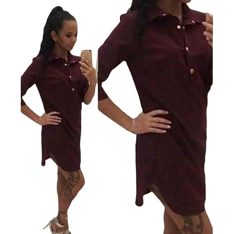 Tiean Dress, Women Sexy 3/4 Sleeve Skirt Knee Length Casual Dress