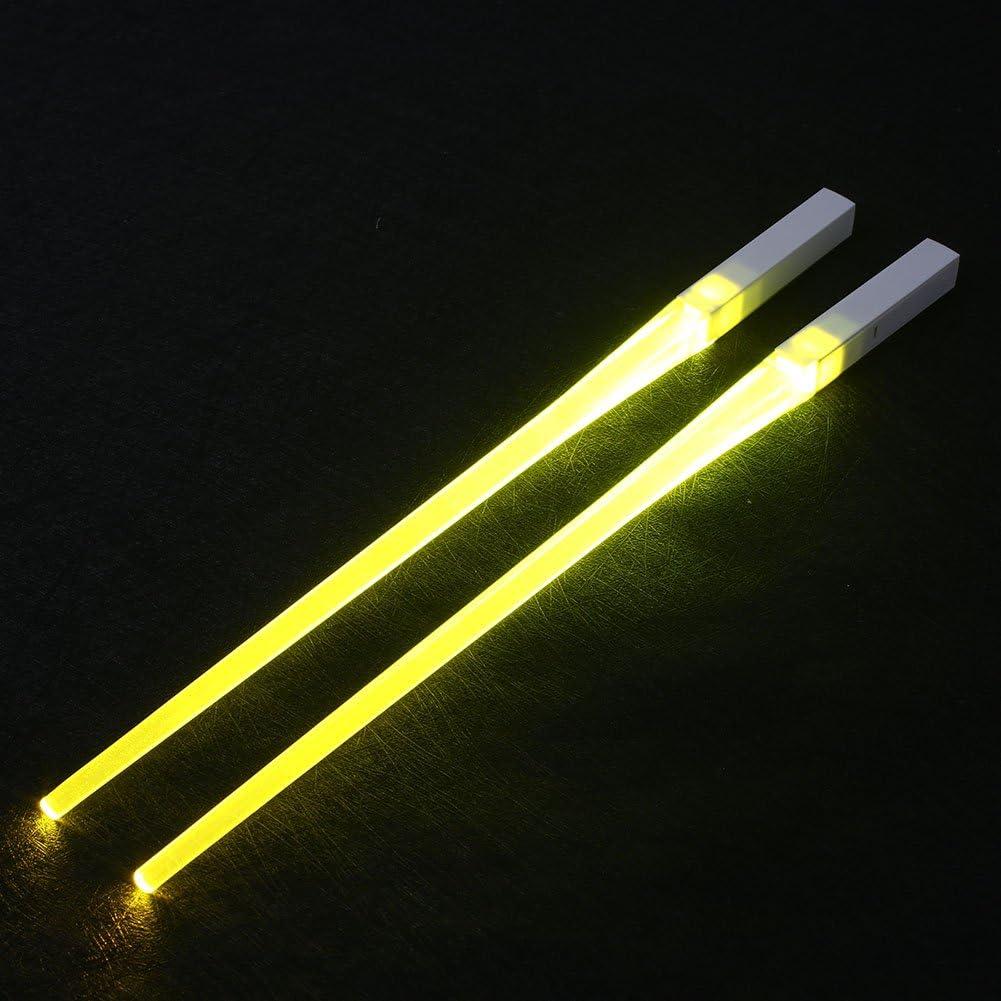 1 Paar Essst/äbchen Pink sp/ülmaschinenfest Haihuic Wiederverwendbare LED-Lichtschwert-Essst/äbchen leuchtende K/üchen- und Sushi-Essst/äbchen