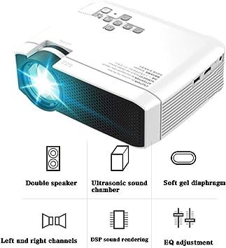 Mini proyector de 3000 lúmenes, Full HD 1080P + 100% Brillo ...