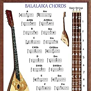 Amazon Com Balalaika Chords Poster Musical Instruments