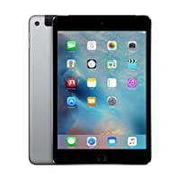"""APPLE. Tablet 7.9"""" iPad Mini 4 16 GB A1550 WiFi + Cellular 4G Funciona EN MÉXICO Space Gray/Gris Espacial Reacondicionado (Certified Refurbished)"""
