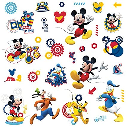 Perfect RoomMates RMK2555SCS Mickey And Friends Mickey Mouse Clubhouse Capers Peel  And Stick Wall Decals