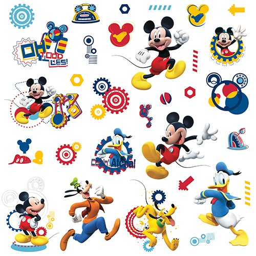 RoomMates RMK2555SCS Mickey and Friends Mickey Mouse Clubhouse Capers Peel and Stick Wall Decals