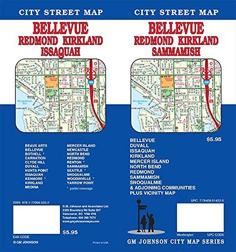 Bellevue / Redmond / Kirkland / Sammamish, Washington Street Map