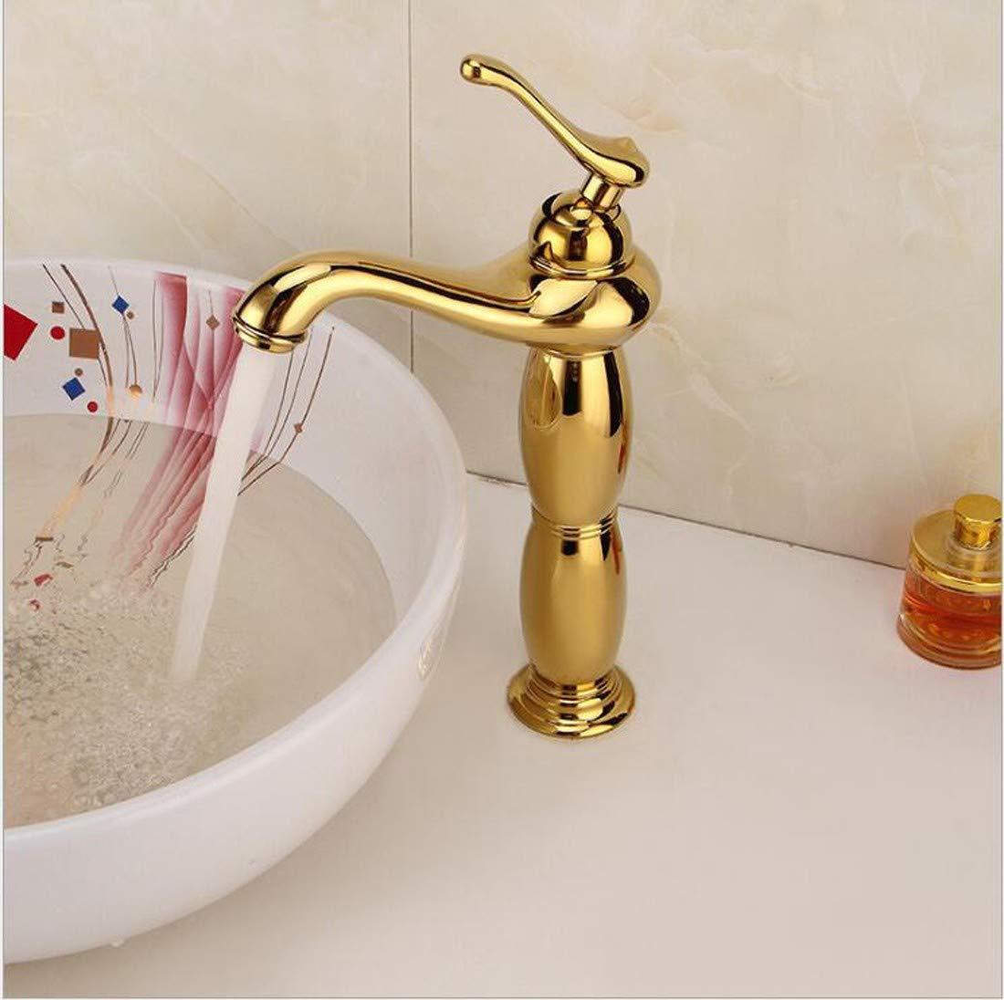 Europäischen Stil,Gold,Kupfer Retro-Becken Wasserhahn,Warmes Und Kaltes Wasser Mischen Wasserhahn,Einfache,Mit Waschbecken Wasserhahn,Hotel Luxus-Tabelle Wasserhahn