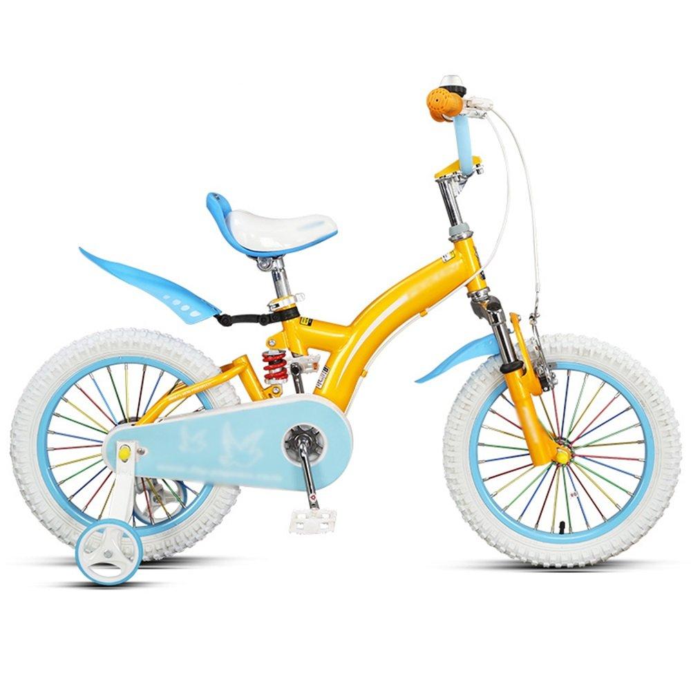 HAIZHEN マウンテンバイク 子供用自転車14インチ16インチレッドイエローオレンジ安全で安定した衝撃吸収自転車 新生児 B07C6V7FBH 14 inches|オレンジ オレンジ 14 inches