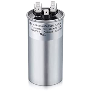 Capacitor 45 5 uf MFD 370V Dual Run Round Capacitor for Condenser Straight Cool or Heat Pump Air Conditioner