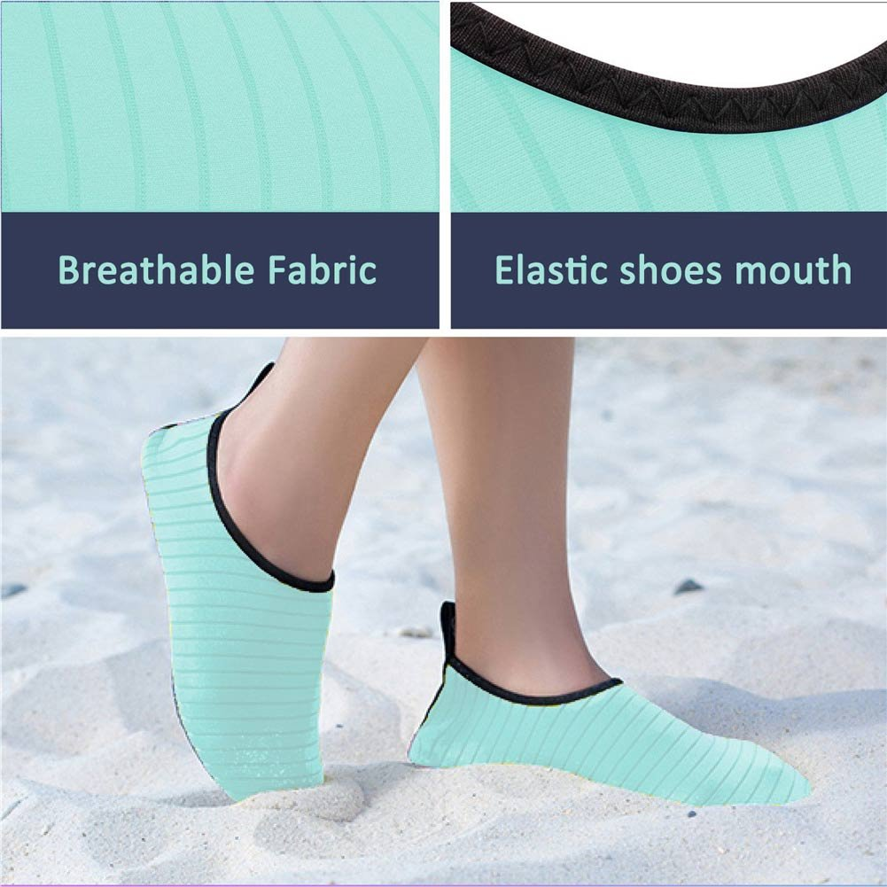 Quickshark para mujeres Zapatos de agua para hombres Secado rápido de verano  Calcetines Aqua descalzo para la piscina de la playa Swim Surf Yoga Verde 0fea58d0dbb