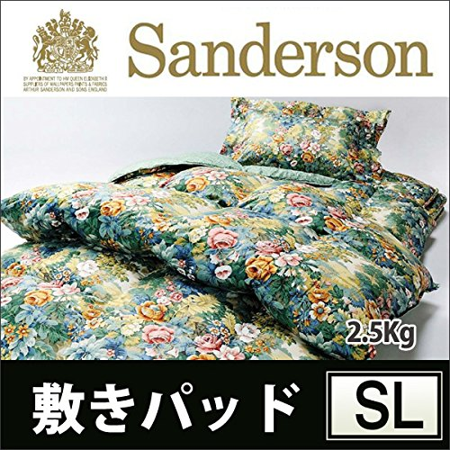 【東京西川】Sanderson~サンダーソン~ 敷きパッド(シングルロング100×210cm 2.5kg)SD004-2 マルチ B00SUGRI74