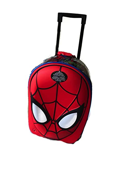 Amazon.com: Disney Store Amazing Spider-Man Rolling Luggage ...