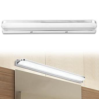 eSky24 9W LED Spiegelleuchte mit Schalter, Schminkleuchte Badezimmerleuchte  Wandleuchte Aufbauleuchte, Kaltweiß 42cm Länge