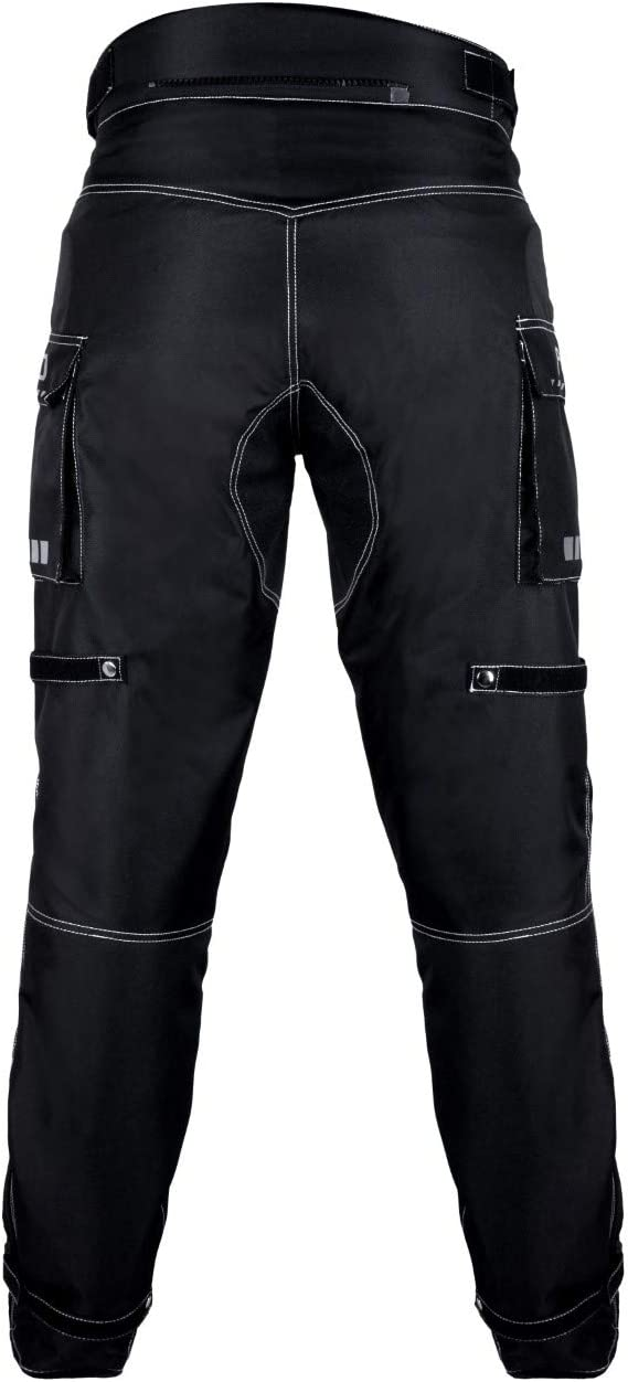 Windproof Riding Pants All-Weather Removable CE Armored Waist 42- Inseam 34 ARD Motorcycle Pants Men Biker Dual sport Motorbike Waterproof