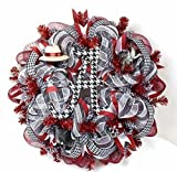 Alabama Crimson Tide Fan Deco Mesh Door Wreath