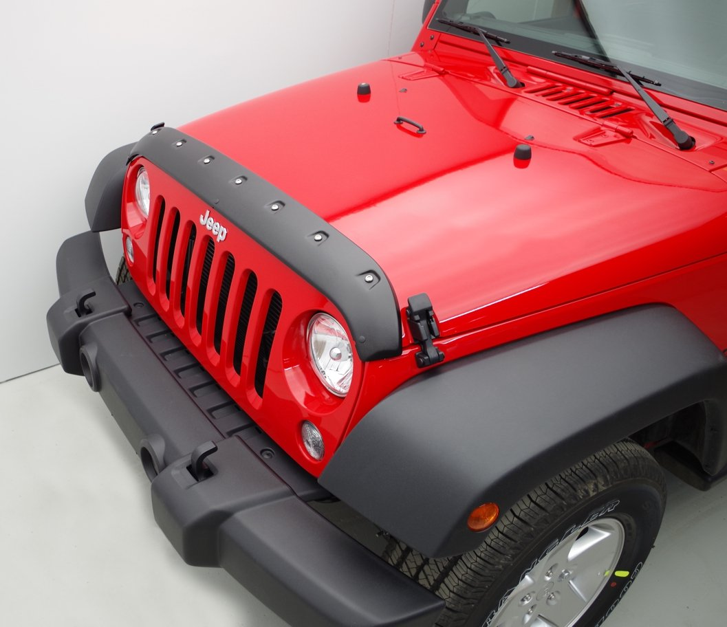 FormFit Textured Black Tough Guard Hood Protector Bug Shield Deflector Fits 2007-2017 Jeep Wrangler JK