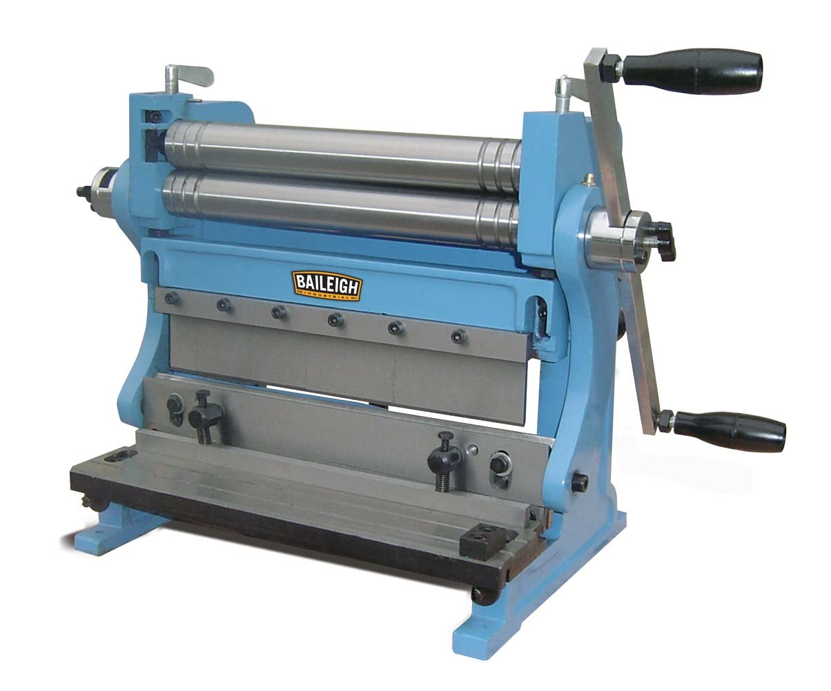 Baileigh SBR-1220 3-in-1 Combination Shear Brake Roll Machine, 12'' Bed Width, 20-Gauge Mild Steal Capacity