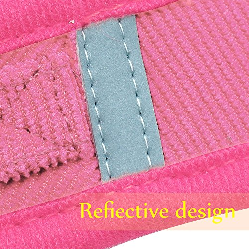 Beirui Reflective Dog Vest & Leash Set - Soft Harness Medium Large Dogs & Cats - Comfort Step-in Mesh Padded Harness 4ft Leash Pet Supplies,Pink Chest 18.5'' by Beirui (Image #5)
