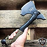 NEW! 12'' SURVIVAL TOMAHAWK TACTICAL THROWING AXE BATTLE Hatchet Knife Hunting Camo