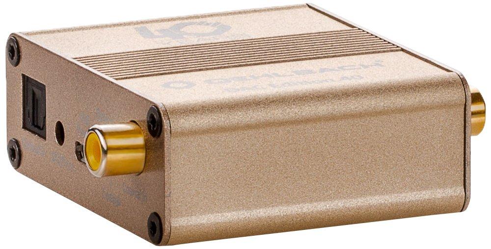 Gold Hochwertiger D//A-Wandler mit optischem und koaxialem Eingang Oehlbach DAC Edition 40