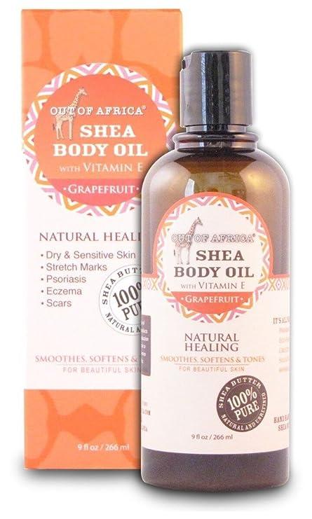 Aceite Corporal Shea con Vitamina E, pomelo, 9 onzas líquidas (266 ml)