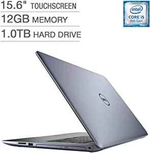 "Newest Dell Inspiron 15 5000 Flagship Premium 15.6"" Full HD Touchscreen Backlit Keyboard Laptop, Intel Core i5-8250U Quad-Core, 12GB DDR4, 1TB HDD, DVD-RW, Bluetooth 4.2, Windows 10, Blue (Renewed)"