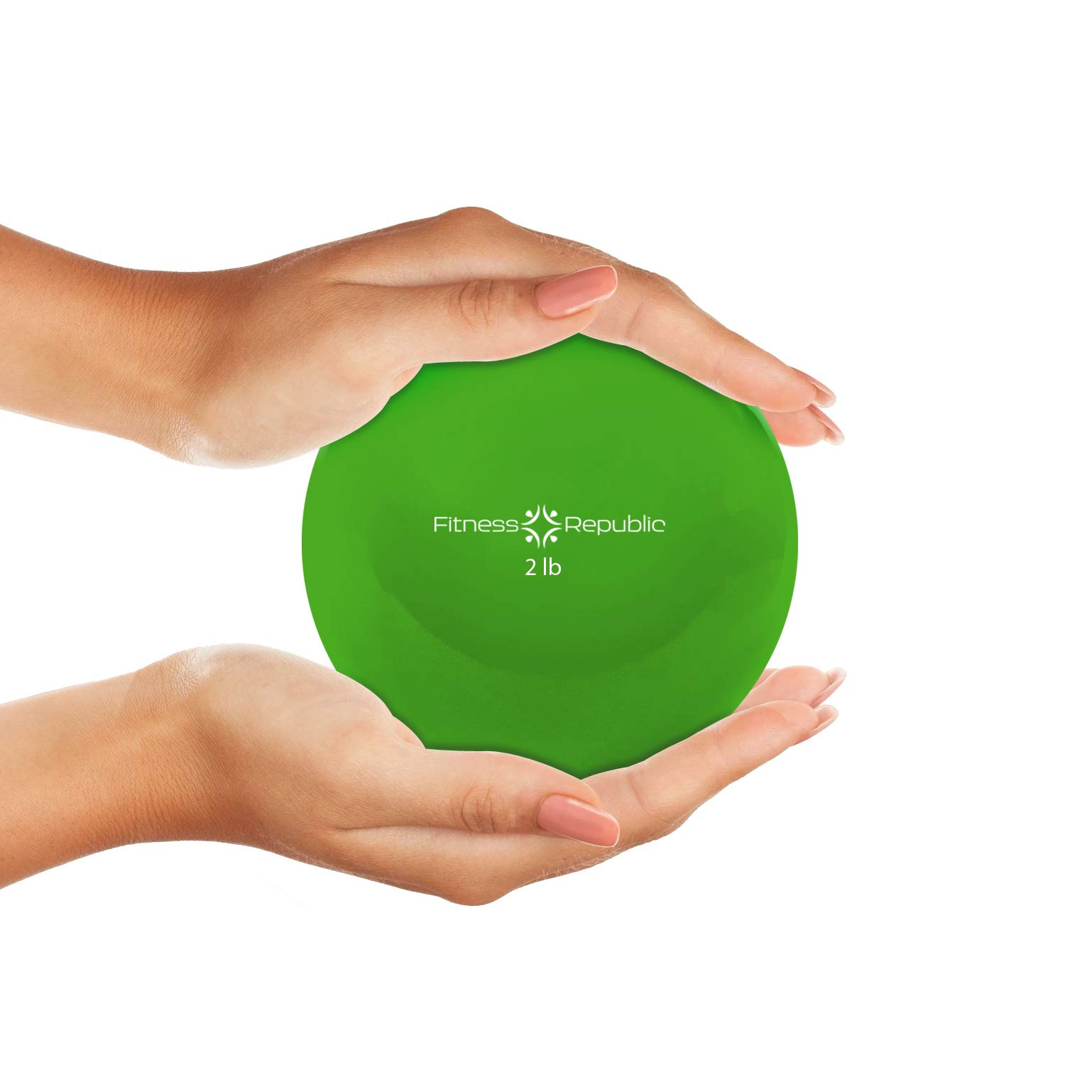 Small Fitness Toning Ball for Workout Flexible Anti-Burst Fitness Toning Ball for Pilates Exercises and Physical Therapy Fitness Republic Pilates Weighted Ball
