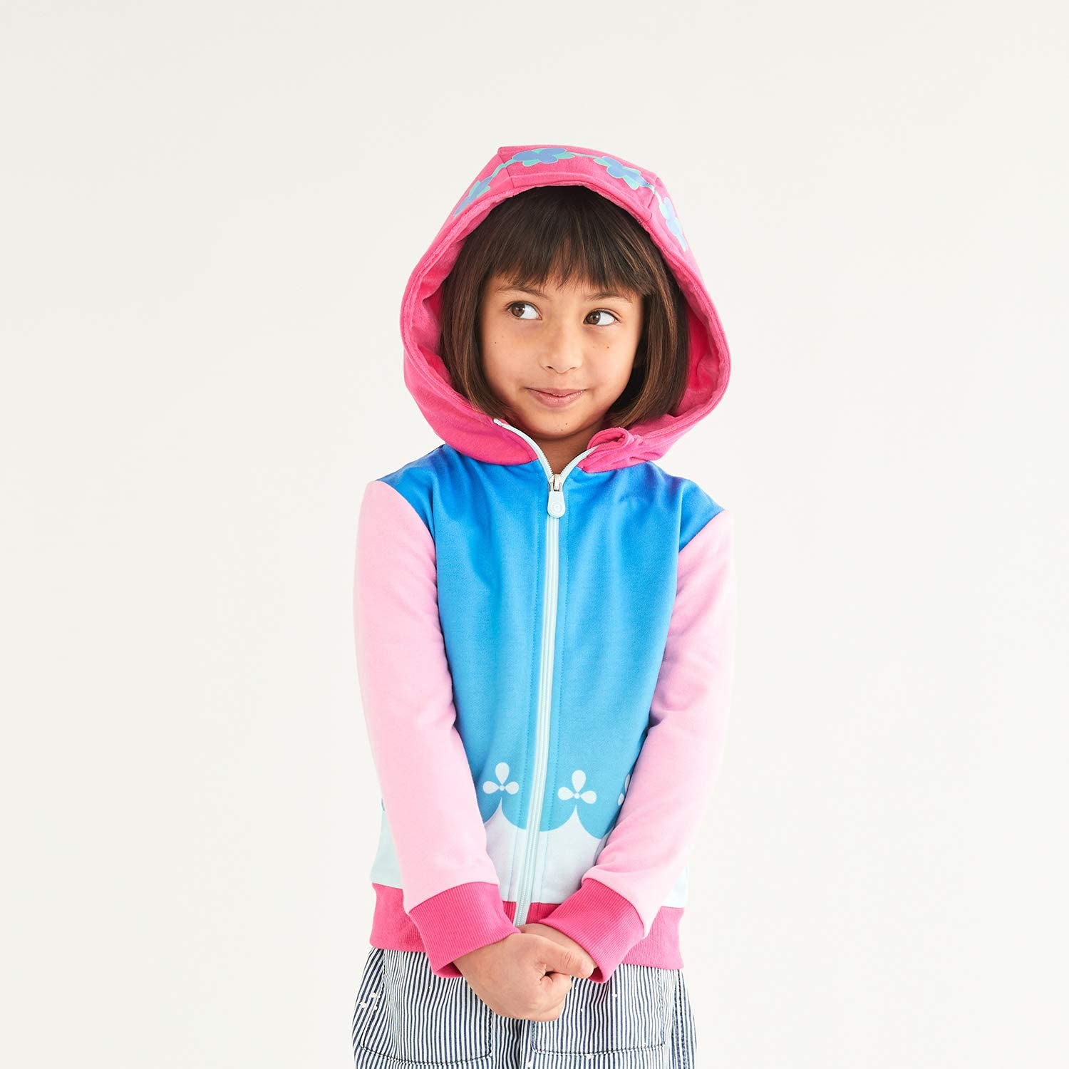 2-in-1 Transforming Hoodie and Soft Plushie Cubcoats Poppy The Troll Pink