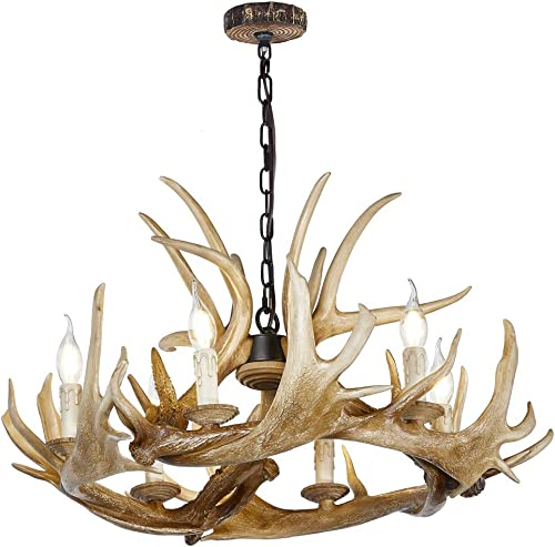 HUITICO Antler Chandelier 6 Light