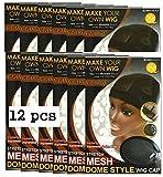 QFitt Mesh Dome Style Wig Cap X-Large #5021 (12pcs)