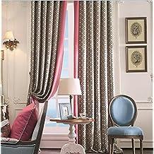 "IYUEGOU Modern Print Cotton Multi Geometric Energy Saving Grommet Top Curtain Draps 72"" W x 96"" L(One Panel)"