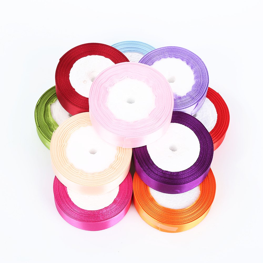 muhan diy 25yards 25mm wide ribbons for bows and wreaths decorated satin edge sheer organza