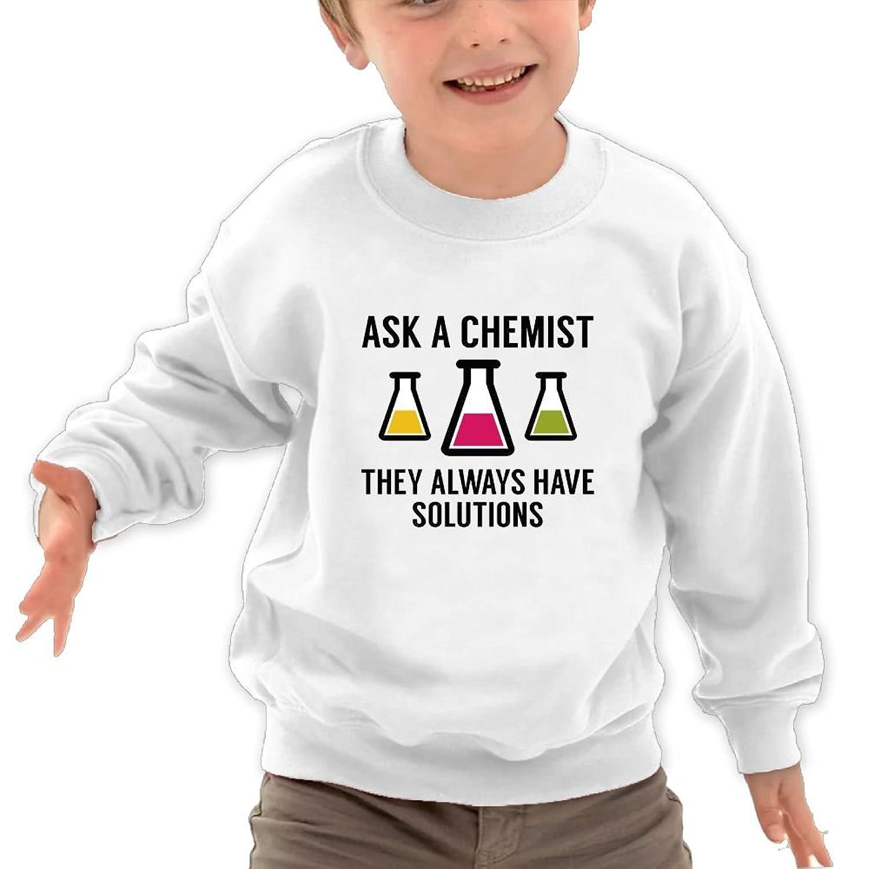 Mkajkkok Ask A Chemist Its Everyday Bro Kids Fashion Round Neck Long Sleeve T-Shirts