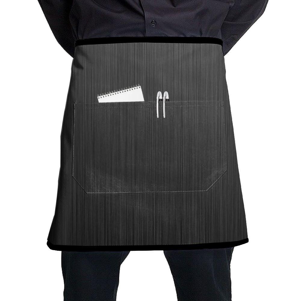 ブラックエプロン、バーバーサロンエプロンポケット、料理エプロンレディースキッチンの、キッチンアクセサリーグレーストライプ   B07BJXS751