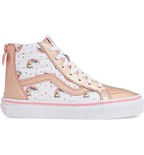 c4cac52f66f5b Vans VN-0A32R3UGL  Boys SK8-HI Zip Unicorn Rainbow Pink Lemonade White