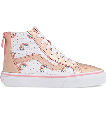 0be0ad91db Amazon.com  Vans VN-0A32R3UGL  Boys SK8-HI Zip Unicorn Rainbow Pink ...
