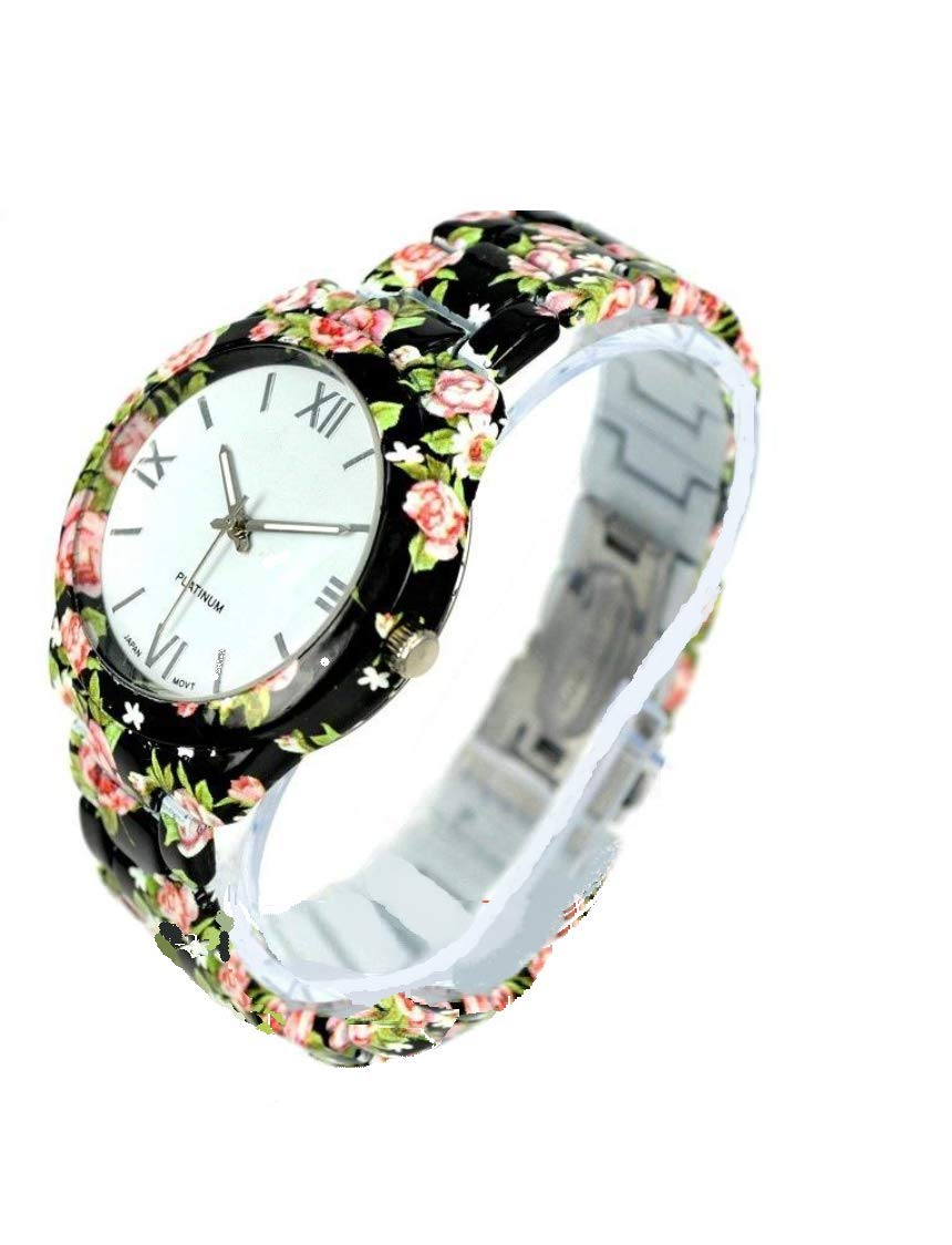 SS Collection White Dial Geneva Flower Printed Women's Watch (B07JD32MGW) Amazon Price History, Amazon Price Tracker