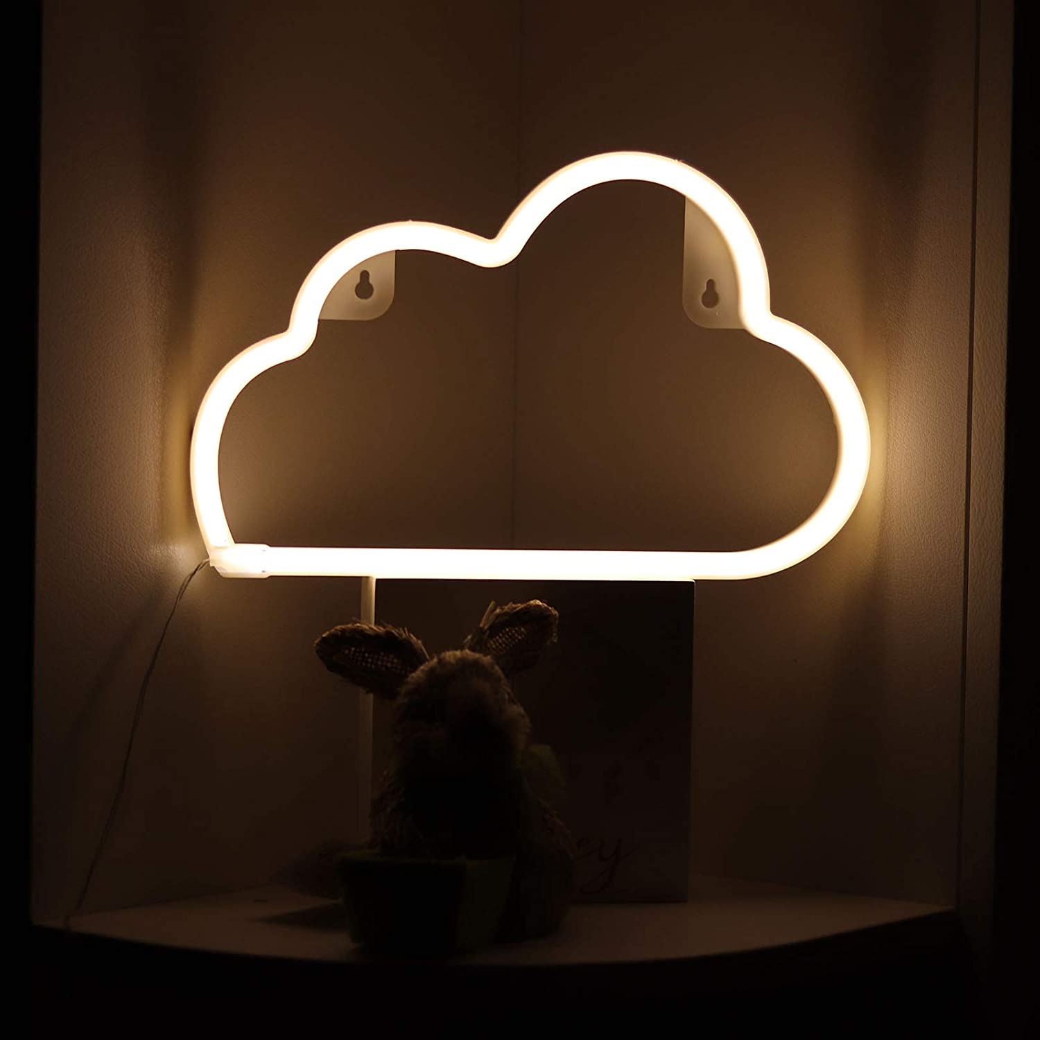 YDL Neon Sign Cloud Lights Blue Wall Art D/écor USB /& Battery Powered LED Neon Night Light for Kids Bedroom,Dorm,Wedding Party Birthday Gifts Baby Nursery Lamp