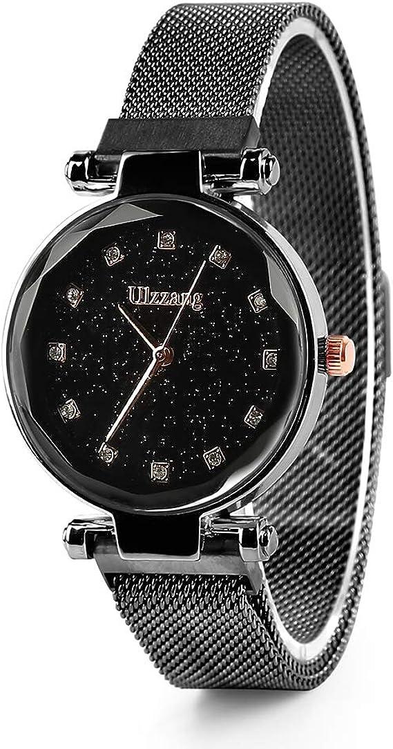 chtdz Luxury Starry Sky Watch Quartz Watch Magnet Strap
