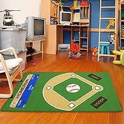 "Dalyn Rug All Stars Baseball Ground Kids Rug Rug Size: 3'3"" x 5'"