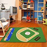 All Stars Baseball Ground Kids Rug Rug Size: 3'3' x 5'