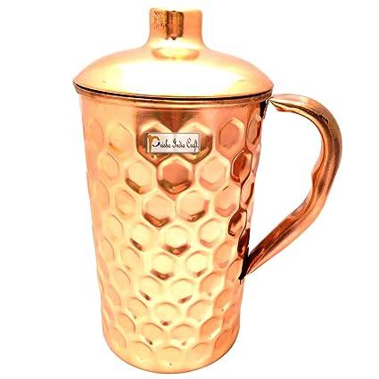 Handmade Copper Jug Pitcher Serveware /& Tableware Good Health Benefits 1400 ml