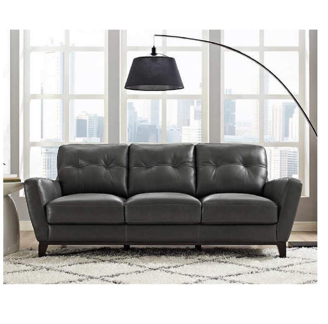 Amazon.com: Natuzzi Group Mills Leather Sofa: Kitchen & Dining