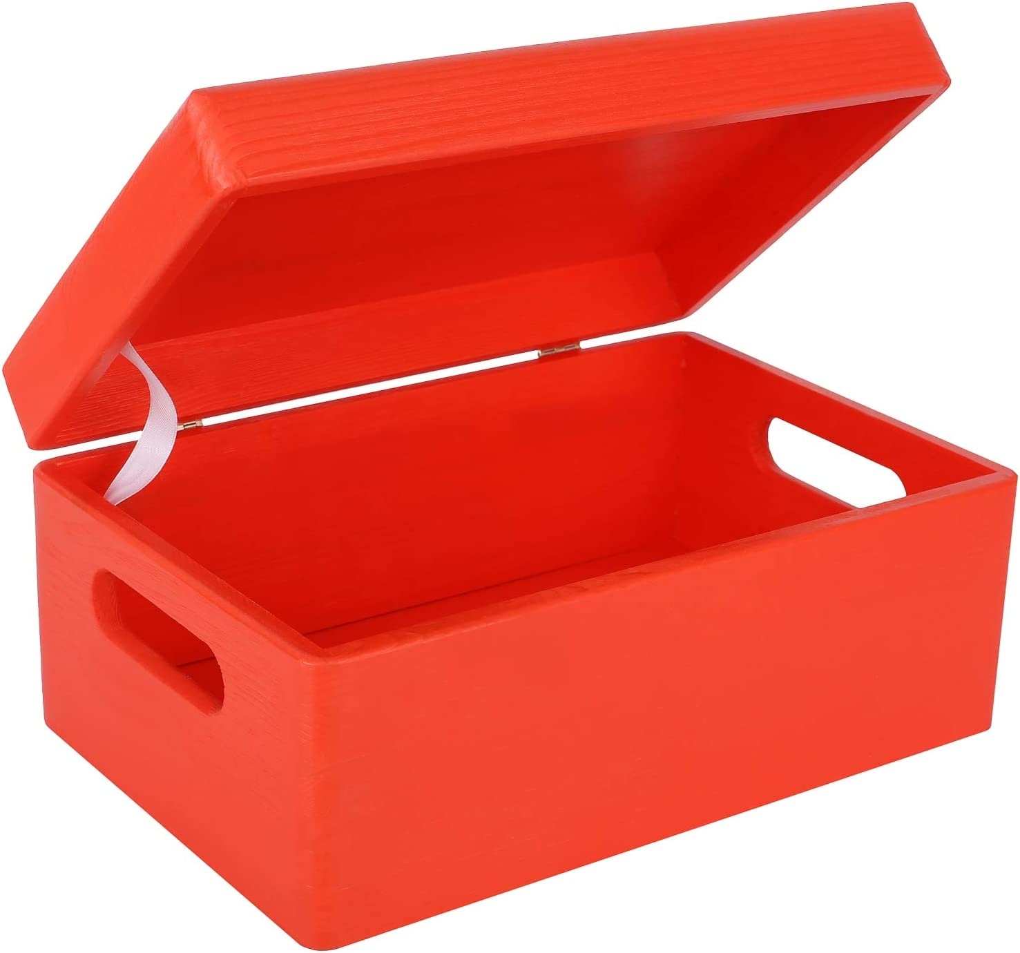 Creative Deco Roja Grande Caja de Madera para Juguetes | 30 x 20 x ...