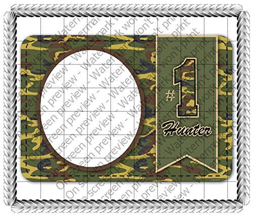 - 1/4 Sheet Cake - #1 Hunter Camo - Edible Photo Frame Cake Topper - D648