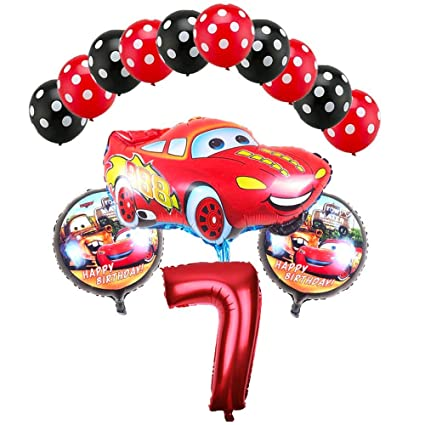 Amazon.com: CuteTrees Cars Lightning McQueen 7º cumpleaños ...