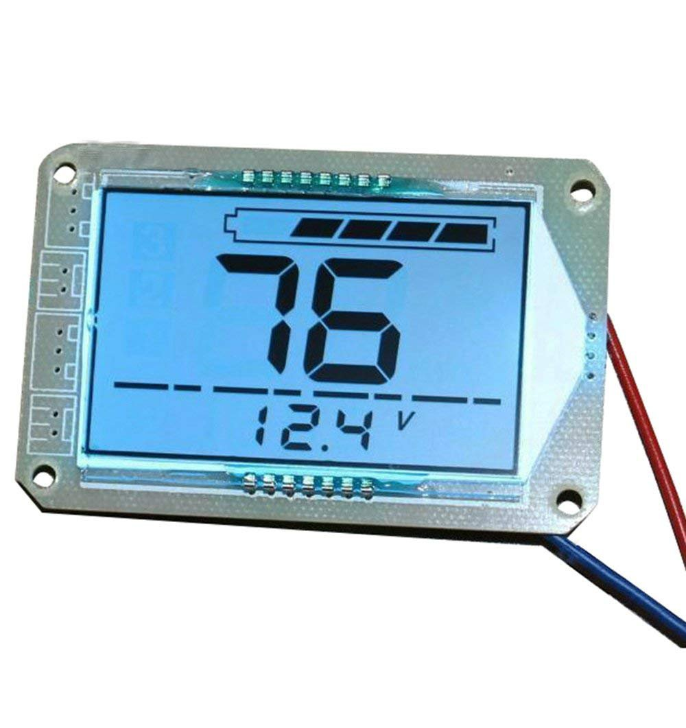Large Screen LCD Display 12V Lead Acid Battery Capacity Meter Battery Voltage Indicator for Motorcycle Golf Cart Car