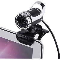 USB 2.0 HD Webcam, 12M Píxeles Clip-on USB Web Cámara con Micrófono, con 360 ° Soporte Giratorio, para para win10 / XP…