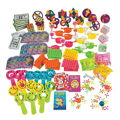 100 Piece Toy and Game Assortment Party Favor Prize ()