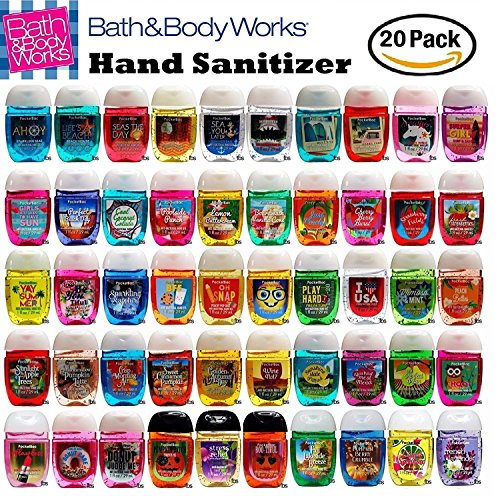 Anti Bacterial 20 Pack PocketBac Sanitizers Assorted