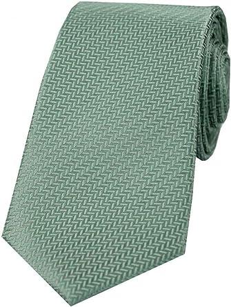 David Van Hagen - Corbata de seda para hombre, diseño de espiga ...