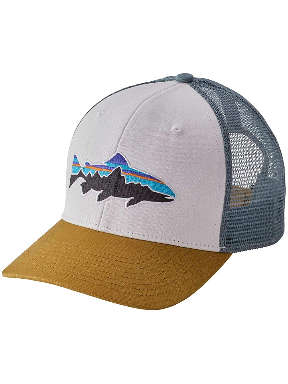 e9271d5af53cd Amazon.com: Patagonia Fitz Roy Trout Trucker Hat (Black): Sports & Outdoors